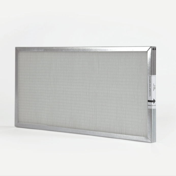 pannello filtrante con telaio in acciaio